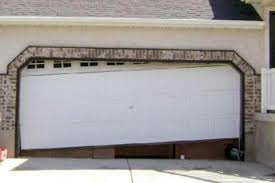 garage-door-has-fallen-off-the-tracks-Dayton