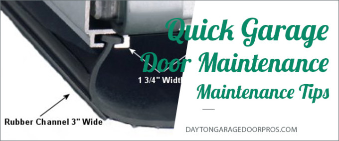 garage door maintenance tips dayton