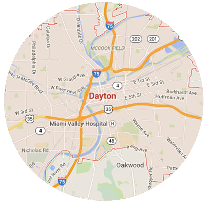 Dayton Garage Door Service Areas